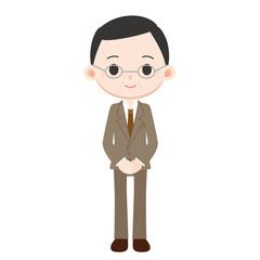 スーツを着た男性 管理職 部長