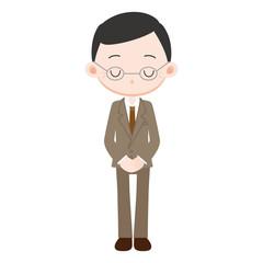 スーツを着た男性 部長 謝罪