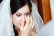 beautiful bride tears