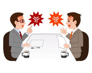 喧嘩をするビジネスマン