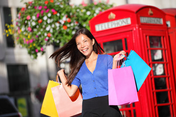 Shopping woman in London