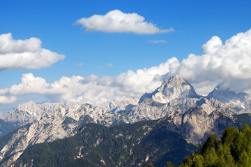 Julian Alps and Mount Mangart, Friuli Italy