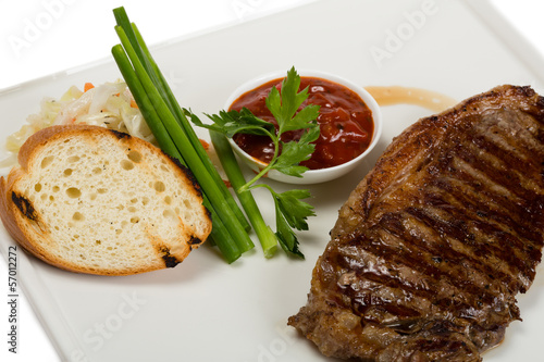 Grilled new york steak
