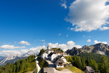 Panoramic View of Monte Lussari - Friuli Italy