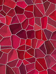seamless cracked multi colored pattern in red and pink