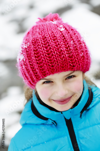 Winter, child, snow - young girl enjoying winter