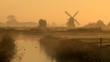 Foggy sunrise in the Dutch countryside