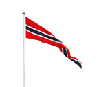Norwegian triangle pennant flag isolated on white