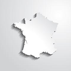 France -fond gris