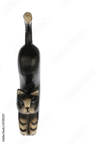 Statuette of kat front side isolated in white