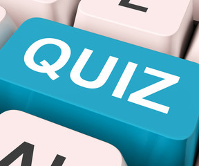 Quiz Key Means Test Or Questioning.