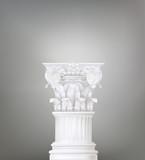 corinthian column as background poster