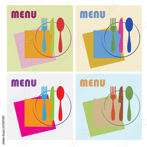 Vector menu cover