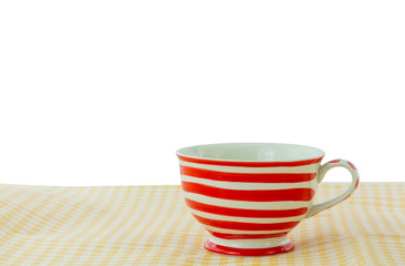 Lovely mug with red line