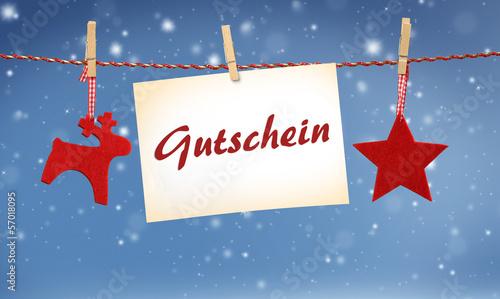 Gutschein zu Weihnachten