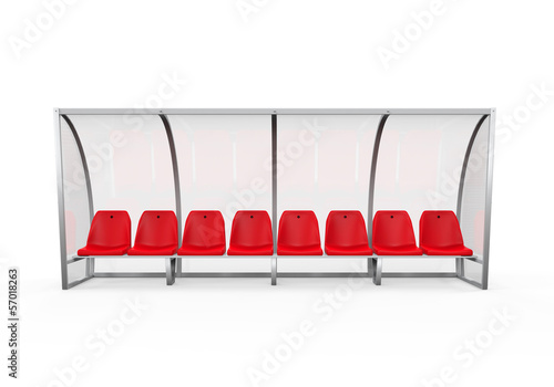 Soccer Player Bench