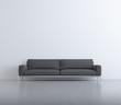Isolated contemporary elegant living room, grey sofa