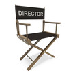 Director Chair Shows Film Producer Or Moviemaker