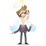 Businessman, angel, good, friendly, wings