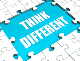 Think Different Puzzle Shows Thinking Outside the Box poster