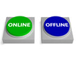 Offline Online Buttons Shows Off-Line Or On-Line