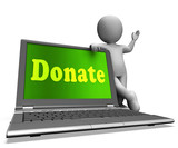Donate Laptop Shows Charity Donations And Fundraising
