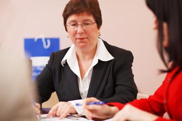Female business executive
