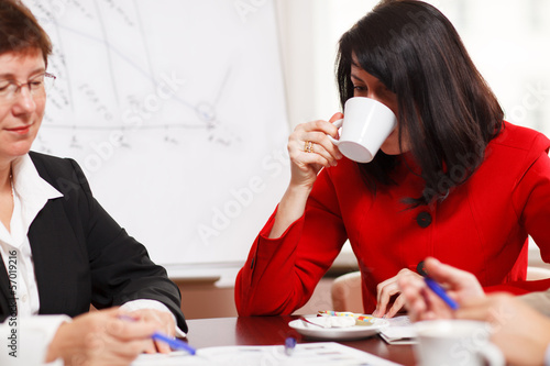 Two women in a business meeting