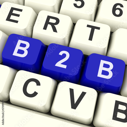 B2b Key Shows Trading Commerce Or Business .