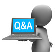 Q&a Laptop Character Shows Questions And Answers Online
