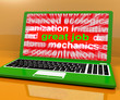 Great Job Laptop Shows Praise Appreciation Or Approval