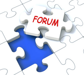 Forum Puzzle Shows Online Community Discussion And Advice