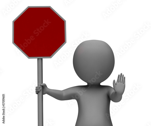 Stop Sign Showing Danger Warning