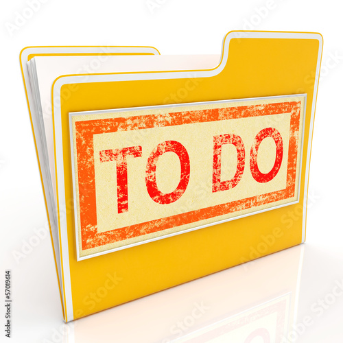 To Do File Shows Organise And Planning Tasks