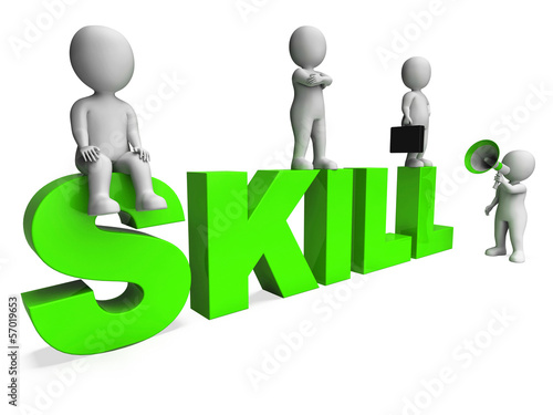 Skill Characters Shows Expertise Skilled And Competence