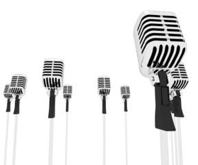 Microphones Speeches Shows Mic Music Performance Or Performing