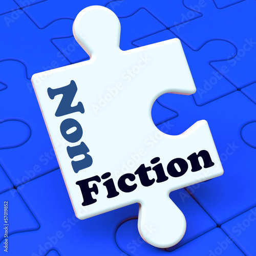 Non Fiction Puzzle Shows Educational Material Or Text Books