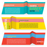 Set of Paper Banners Vector.EPS10