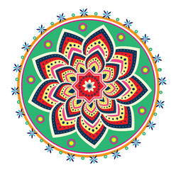 Flower pattern ornament (mandala style)