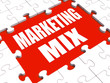 Marketing Mix Puzzle Shows Marketplace Place Price Product And P