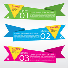 Origami Paper Banners Vector. EPS 10