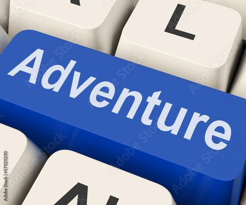 Adventure Key Means Venture.