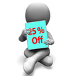 Twenty Five Percent Off Tablet Means 25% Discount Or Sale Online