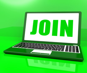 Join On Laptop Shows Register Membership Or Volunteer Online