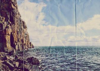 paper ocean cliff