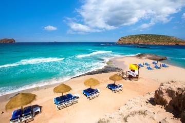 Ibiza Cala Conta Comte beach in Sant Josep