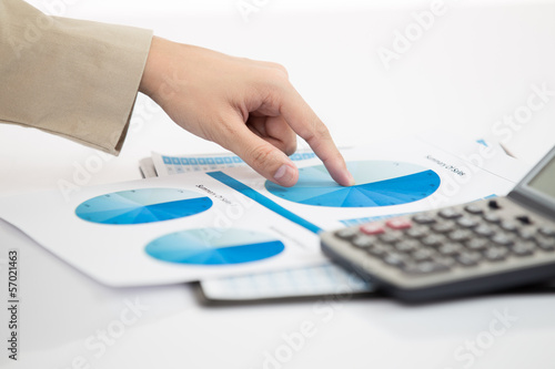 Business financial data analyzing