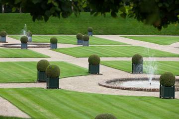 Splendid, decorative gardens at castles in France