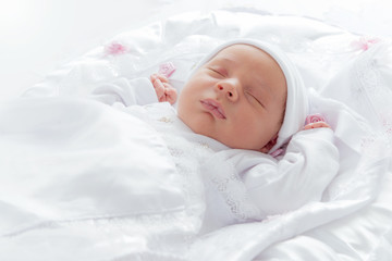 Lovely New Born Baby Sleeping
