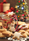 Christmas cookies. Selective focus